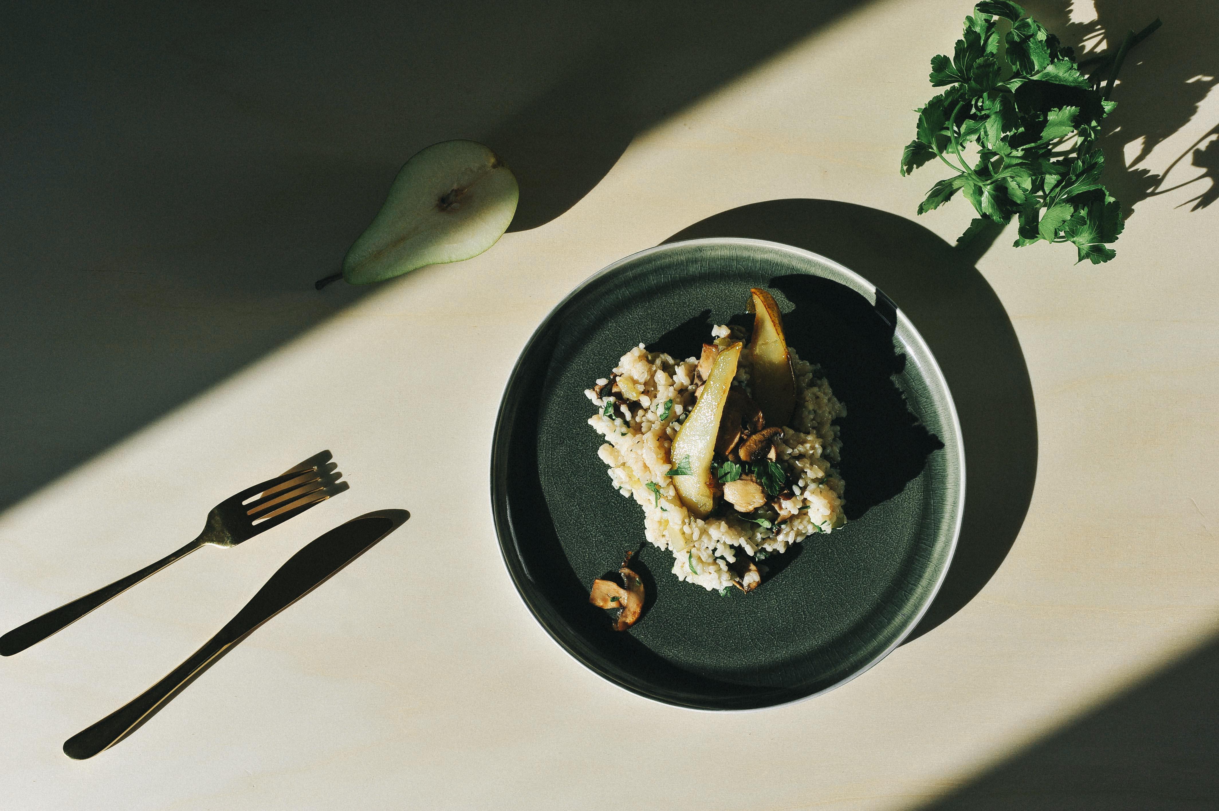 veganes risotto 03 final - Risotto mit karamellisierter Birne