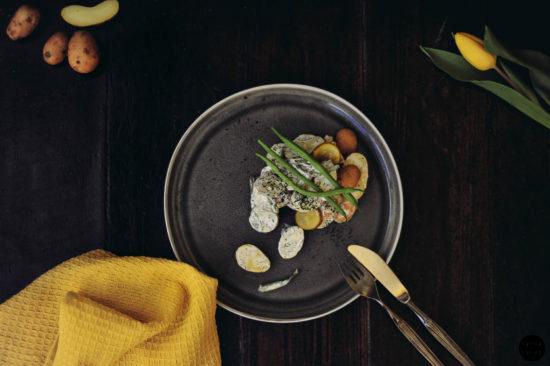 veganer kartoffelsalat 01 final 1 550x366 - Veganer Kartoffelsalat mit Mayo