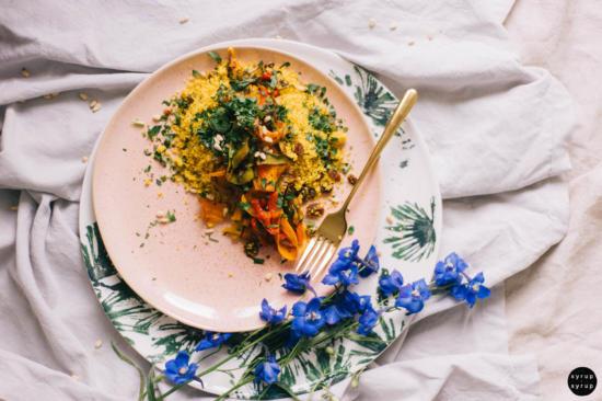 veganer bulgursalat 05 550x366 - Couscous-Salat